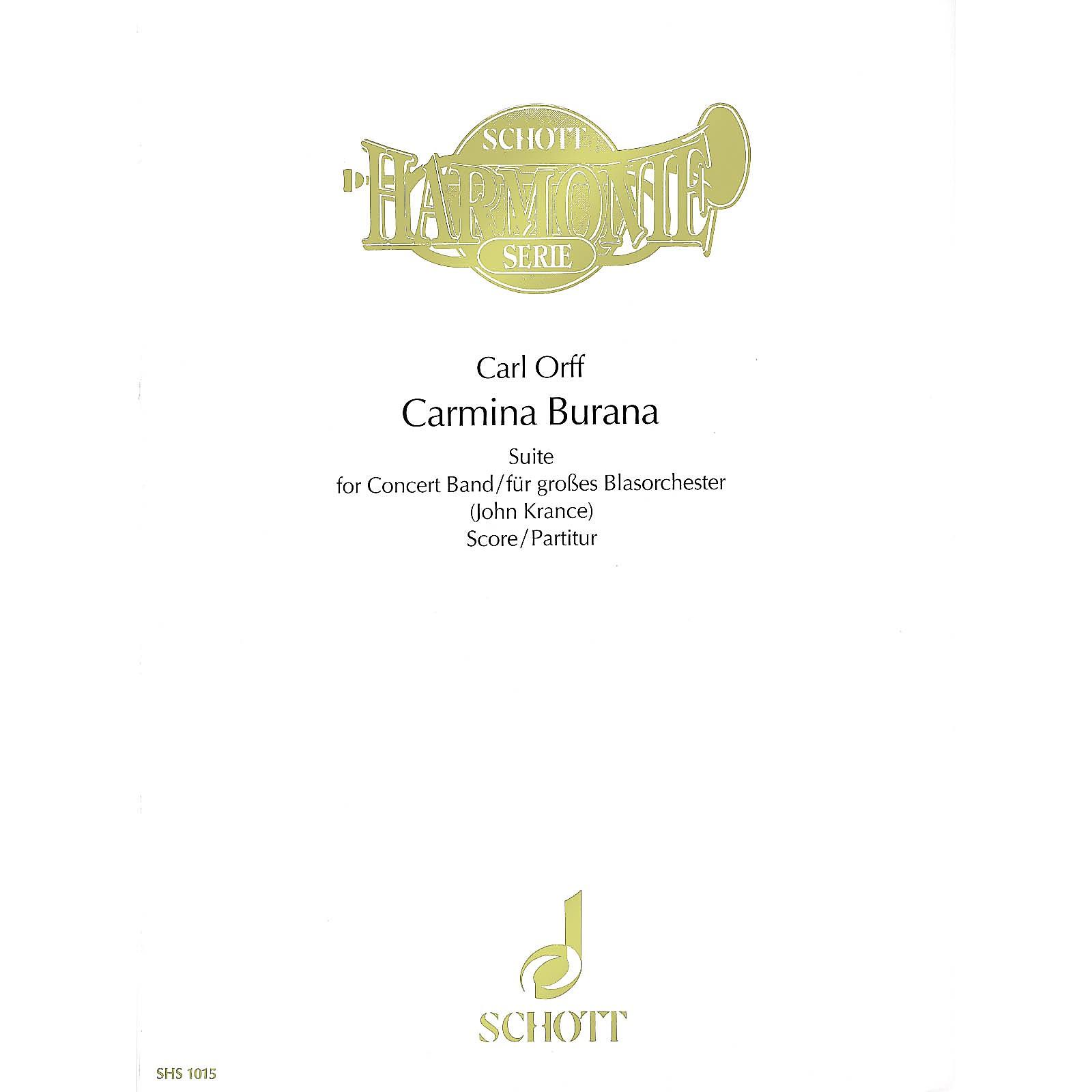 Schott Carmina Burana (Score) Schott Series Composed by Carl Orff Arranged by John Krance