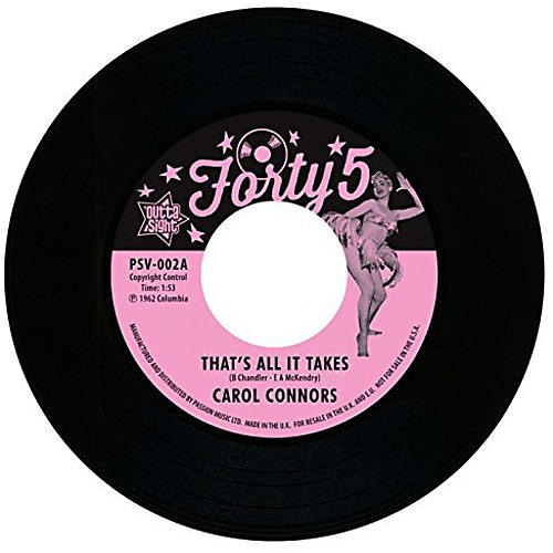 Alliance Carol Connors - That's All It Takes/I Wanna Know