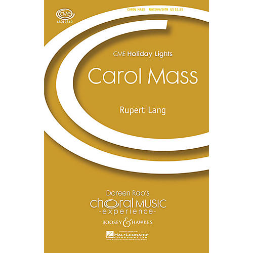 Boosey and Hawkes Carol Mass (CME Holiday Lights) SATB arranged by Rupert Lang