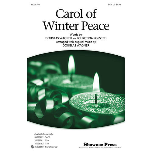 Shawnee Press Carol Of Winter Peace SAB arranged by Douglas Wagner