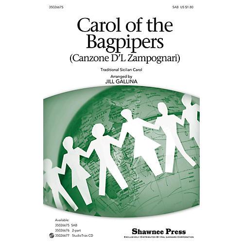 Shawnee Press Carol of the Bagpipers (Canzone D'l Zampognari) SAB arranged by Jill Gallina