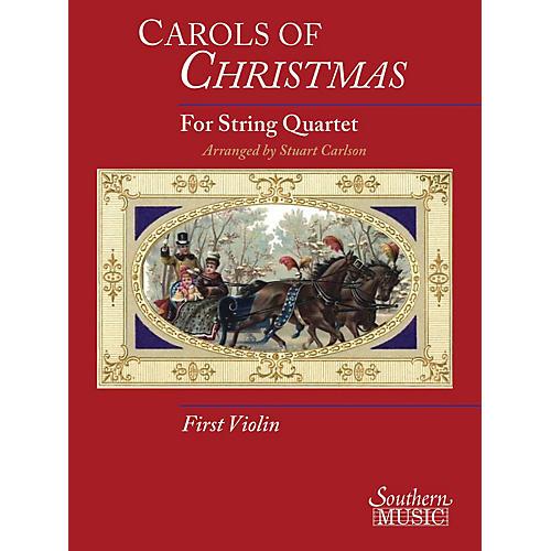 Hal Leonard Carols Of Christmas For String Quartet, Violin 1 Book Southern Music Series