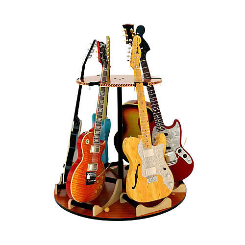 A&S Crafted Products Carousel Deluxe Rotating Multi Guitar Stand