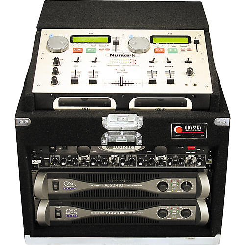 Odyssey Carpeted Case for Numark CD-MIX 1 + 6 Rack Spaces Below