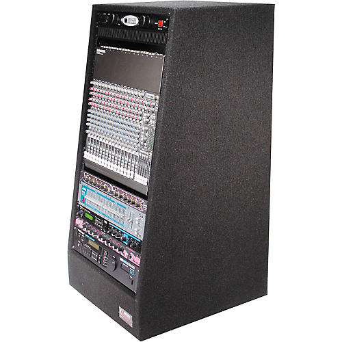 Odyssey Carpeted Studio Rack with Wheels 20 Space