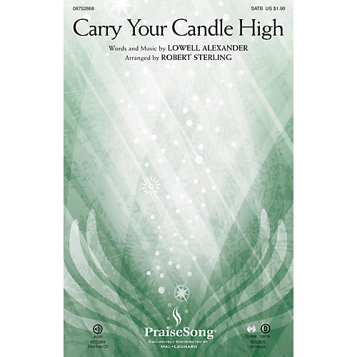 PraiseSong Carry Your Candle High CHOIRTRAX CD Arranged by Robert Sterling
