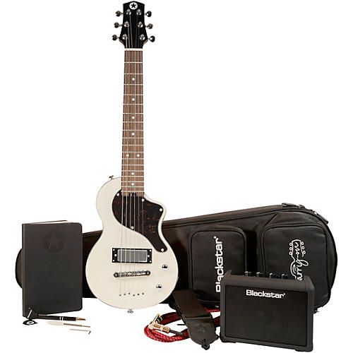 Blackstar CarryOn Travel Guitar Deluxe Pack with FLY3 White