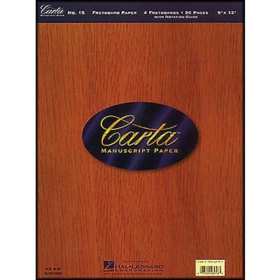 Hal Leonard Carta 15 Scorepad 9X12, Fretboard Paper 96 Pg, 4 Diagrams/Page Manuscript
