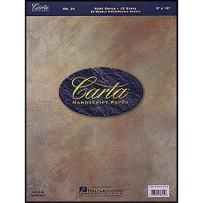 Hal Leonard Carta 34 Partpaper 9X12, Dbl Sided, 24 Sheet, 12 Stave Manuscript