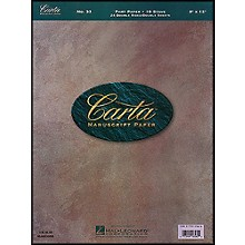 Hal Leonard Carta Manuscript 33 Part Paper 9 X 12, Double Sheets, Double Sided, 24 Sheets,10 Staves