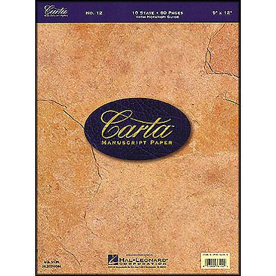 Hal Leonard Carta Manuscript Paper # 12 - Writing Pad, 9 X 12, 80 Pages, 10 Stave