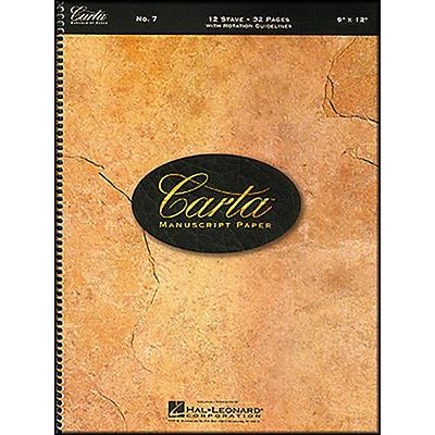 Hal Leonard Carta Manuscript Paper # 7 - Spiralbound, 9 X 12, 12 Stave, 32 Pages