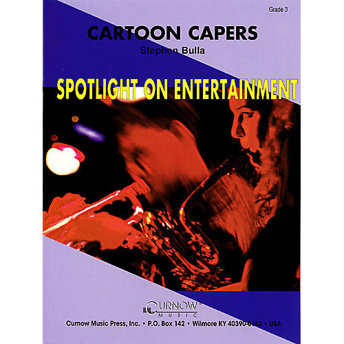 Curnow Music Cartoon Capers (Grade 3 - Score Only) Concert Band Level 3 Arranged by Stephen Bulla