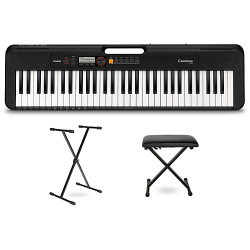 Casio Casiotone CT-S200 Keyboard with Stand and Bench Black