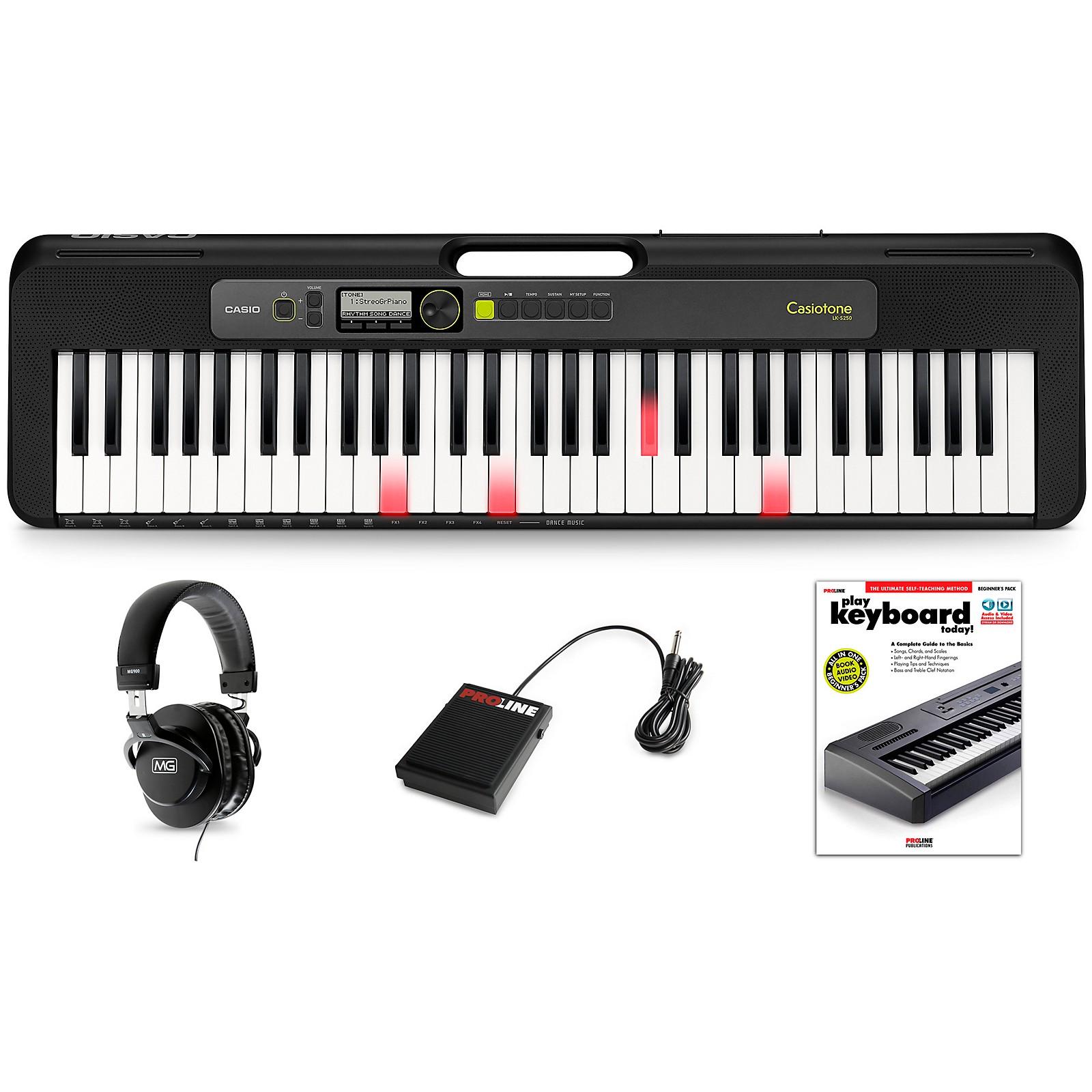 Casio Casiotone LK-S250 Keyboard Essentials Kit