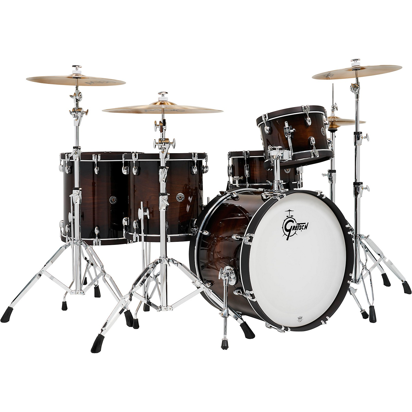Gretsch Drums Catalina Special Edition Walnut/Maple 5-Piece Shell Pack with Wood Hoops and 22 in. Bass Drum