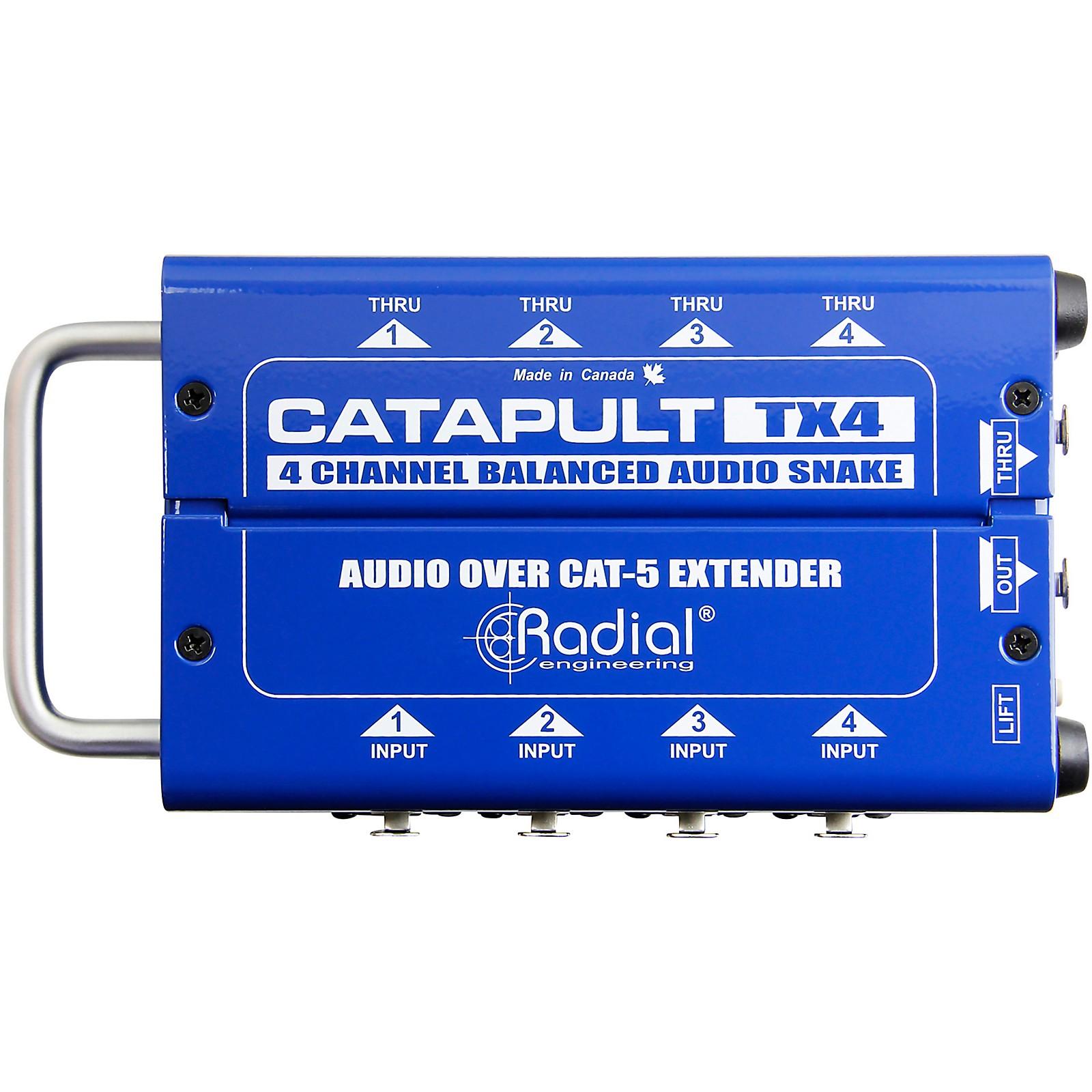 Radial Engineering Catapult 4-channel Cat 5 Audio Snake (TX4 Transmitter Module)