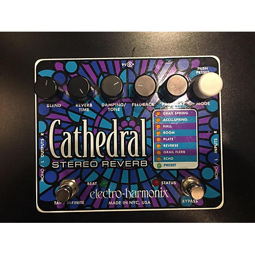 Cathedral Stereo Reverb Effect Pedal