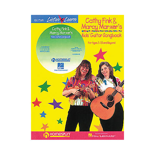Homespun Cathy Fink & Marcy Marxer's Kids' Guitar Songbook with CD