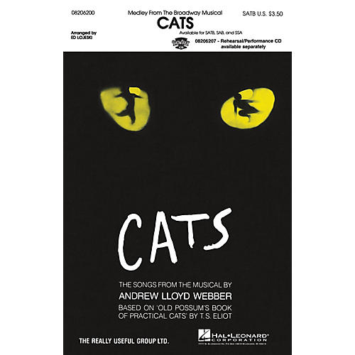 Hal Leonard Cats (Medley) SAB Arranged by Ed Lojeski