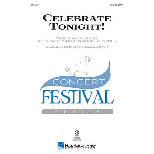 Hal Leonard Celebrate Tonight! SATB composed by John Jacobson