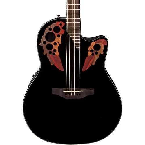 Ovation Celebrity Elite Acoustic-Electric Guitar Black