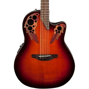 ovation guitar acoustic electric celebrity elite guitars sunburst musiciansfriend friend musicians center musician string mmgs7