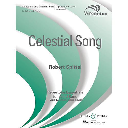 Boosey and Hawkes Celestial Song (Score Only) Concert Band Level 3 Composed by Robert Spittal