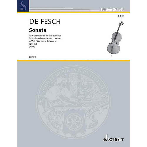 Hal Leonard Cello Bibliothek Sonata For Violoncello Opus 8/5 G Minor Schott Series