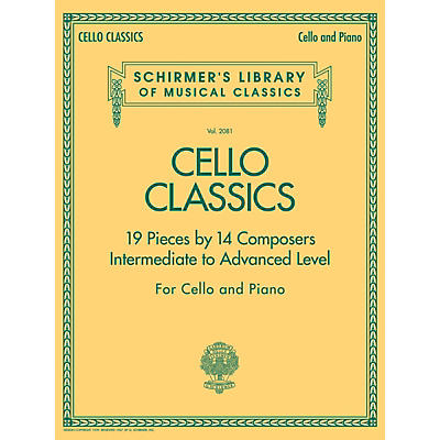 G. Schirmer Cello Classics String Series Softcover