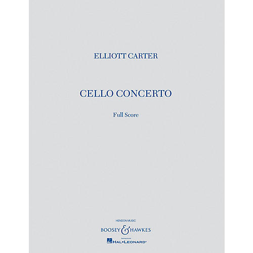Boosey and Hawkes Cello Concerto (Full Score) Boosey & Hawkes Scores/Books Series Softcover Composed by Elliott Carter