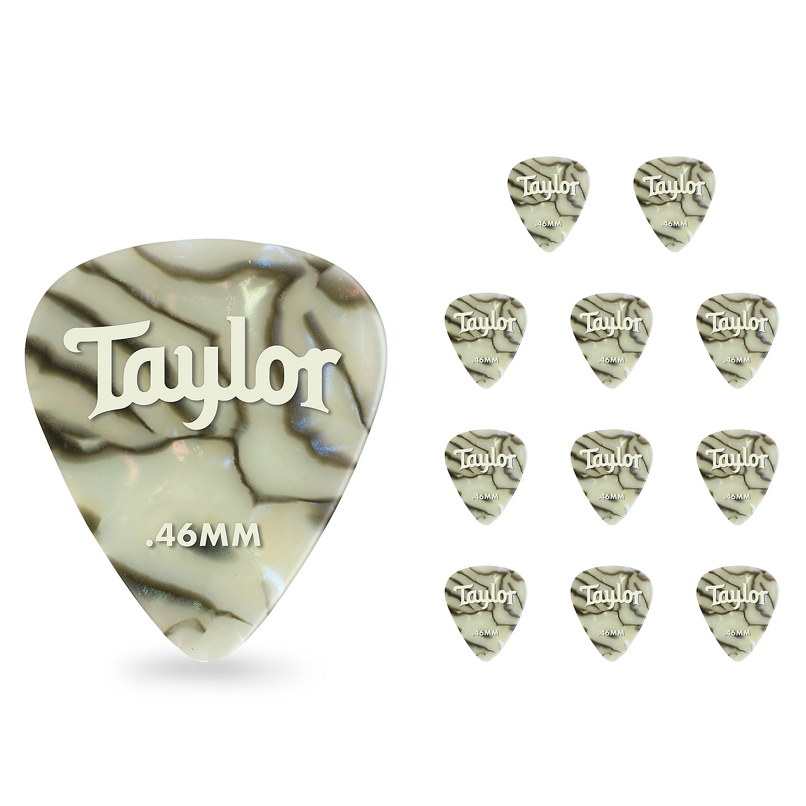 Taylor Celluloid 351 Picks, Abalone