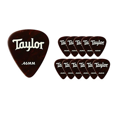 Taylor Celluloid 351 Picks Tortoise Shell