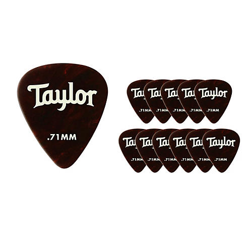 Taylor Celluloid 351 Picks Tortoise Shell .71 mm 12 Pack