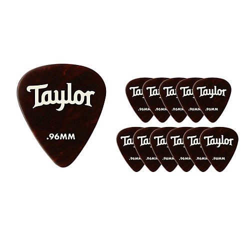 Taylor Celluloid 351 Picks Tortoise Shell .96 mm 12 Pack