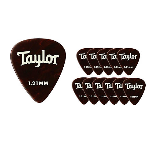 Taylor Celluloid 351 Picks Tortoise Shell 1.21 mm 12 Pack