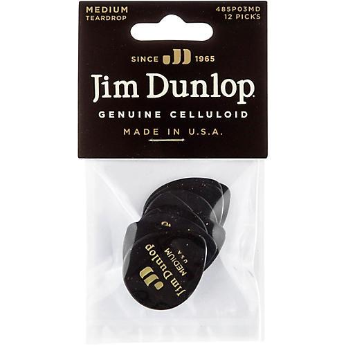 Dunlop Celluloid Teardrop Black Guitar Picks