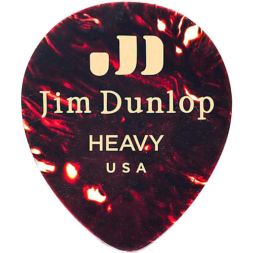 Dunlop Celluloid Teardrop Guitar Picks, Shell
