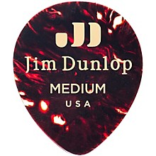 Dunlop Celluloid Teardrop Guitar Picks, Shell
