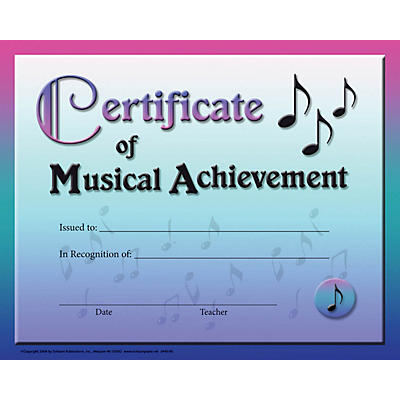 SCHAUM Certificate of Musical Achievement Educational Piano Series Softcover