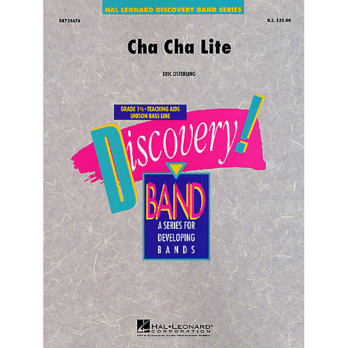 Hal Leonard Cha Cha Lite Concert Band Level 1 1/2 Composed by Eric Osterling
