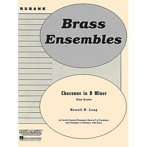 Rubank Publications Chaconne in D Minor (Brass Quartet - Grade 4) Rubank Solo/Ensemble Sheet Series
