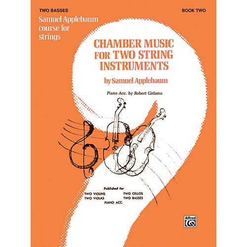 Alfred Chamber Music for Two String Instruments Book II 2 Basses