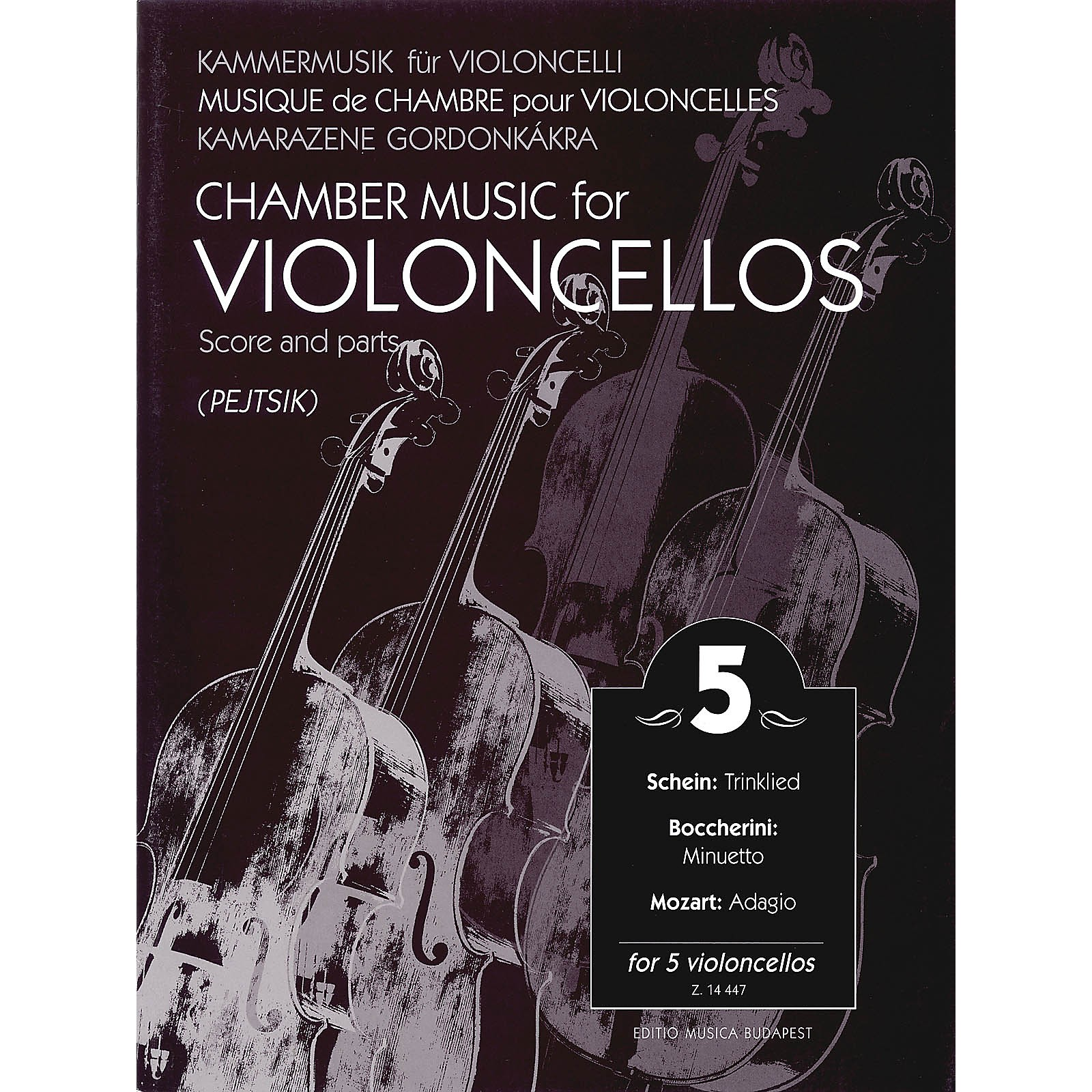 Editio Musica Budapest Chamber Music for Violoncellos - Volume 5 (5 Violoncellos Score and Parts) EMB Series Composed by Various