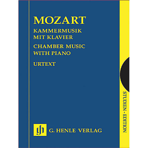G. Henle Verlag Chamber Music with Piano (Study Score) Henle Study Scores Series Softcover by Wolfgang Amadeus Mozart