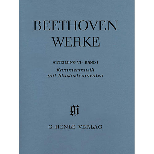 G. Henle Verlag Chamber Music with Winds Henle Edition Softcover by Beethoven Edited by Egon Voss