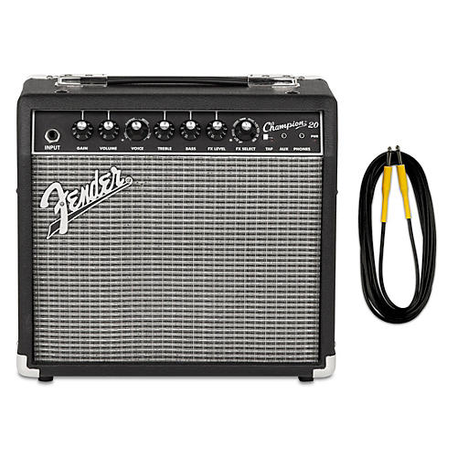 Fender Champion 20 Guitar Combo Amp with 20-Foot Instrument Cable