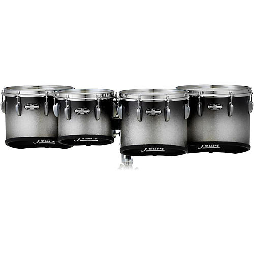 Pearl Championship CarbonCore Marching Tenor Drums Quad Sonic Cut Condition 1 - Mint 10, 12, 13, 14 in. Black Silver Burst #368