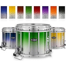 Championship CarbonCore Varsity FFX Marching Snare Drum Fade Top Finish 14 x 12 in. Green Silver #971