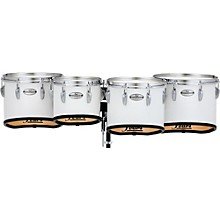Championship Maple Marching Tenor Drums Quad Sonic Cut 10 in. Pure White